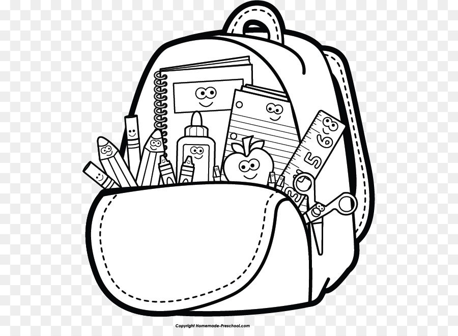 Back to school black and white clipart 4 » Clipart Station.