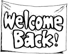 Free Welcome Back Clipart Black And White, Download Free.