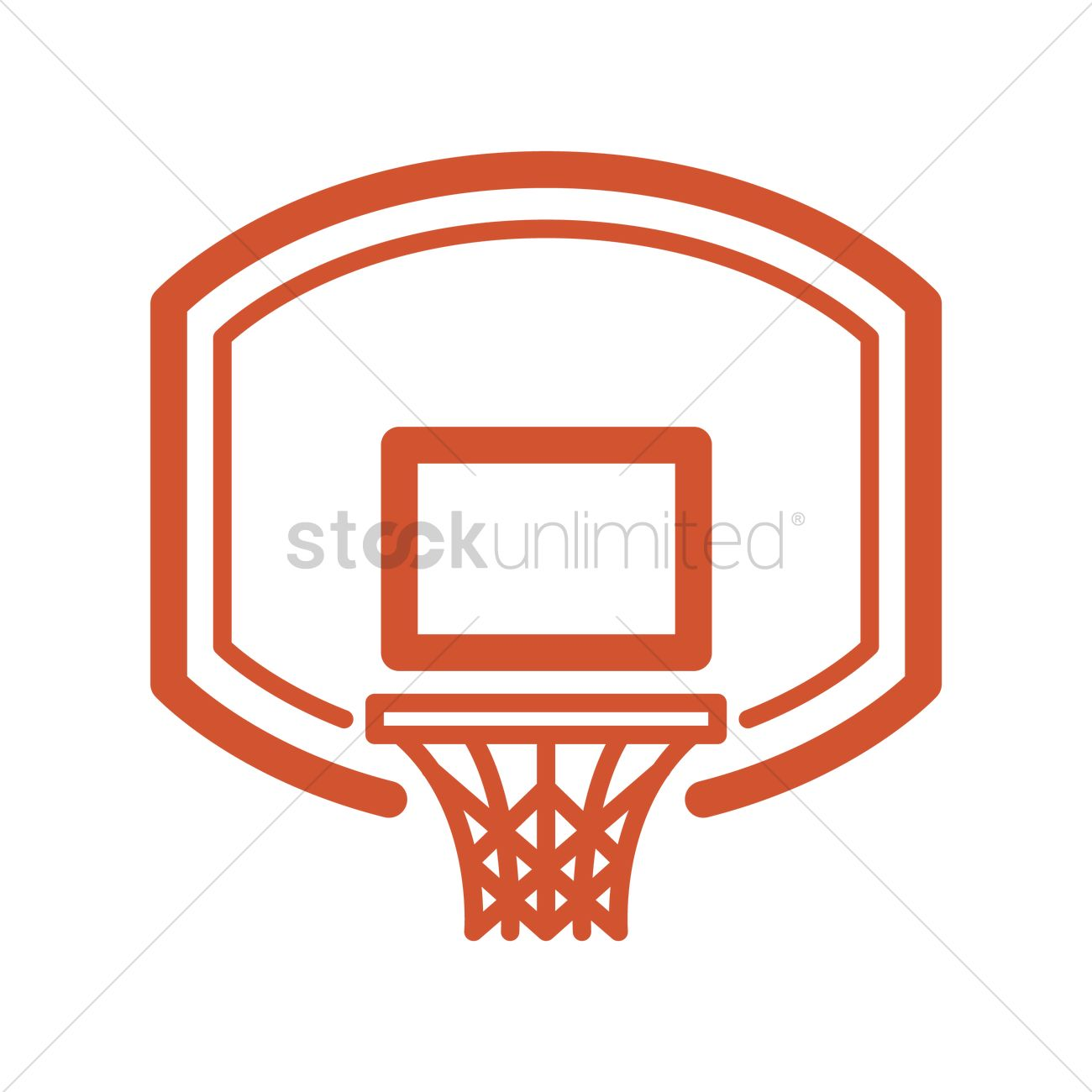 Basketball backboard and rim Vector Image.