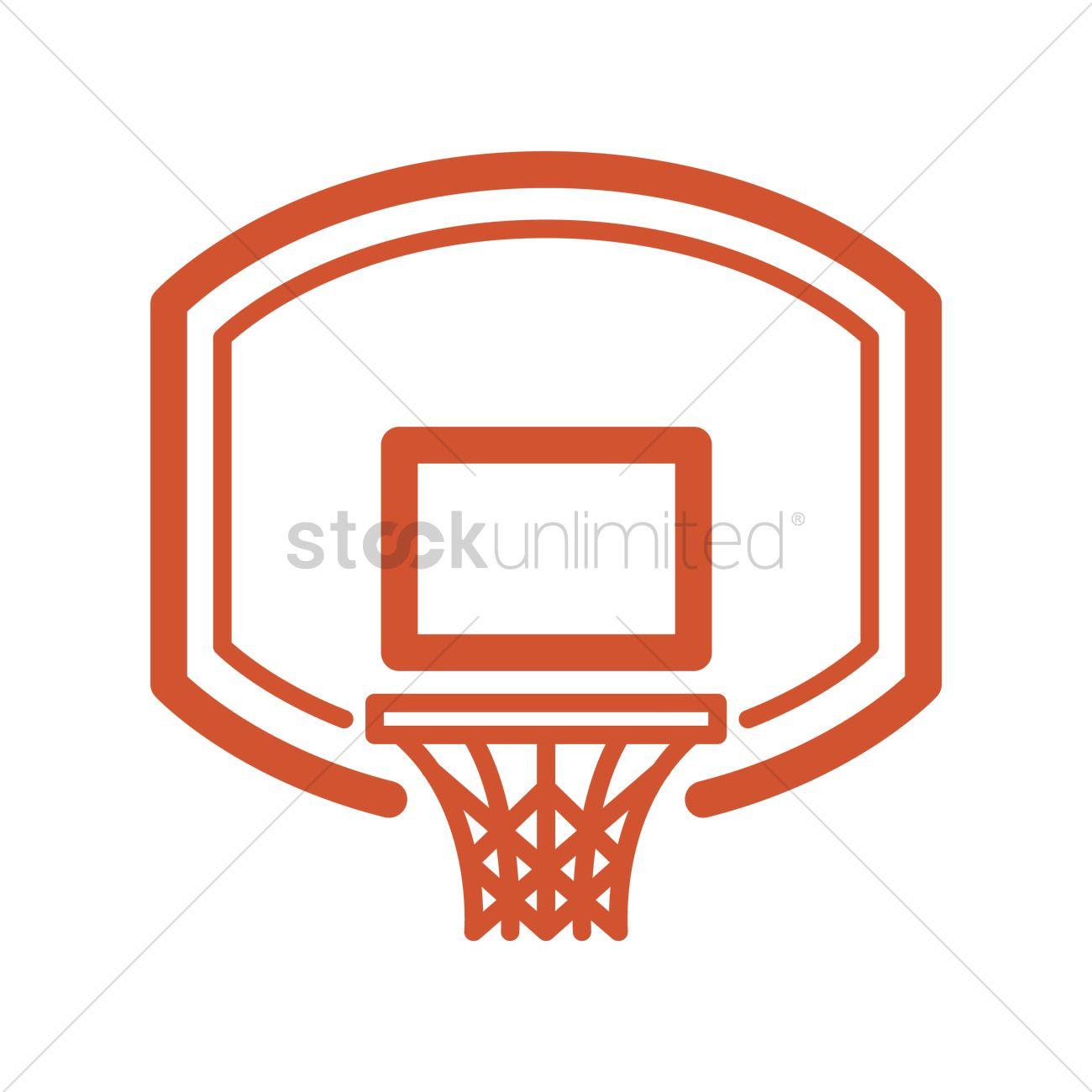 Basketball backboard and rim Vector Image.