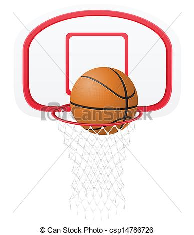 Black And White Basketball Backboard Clipart.