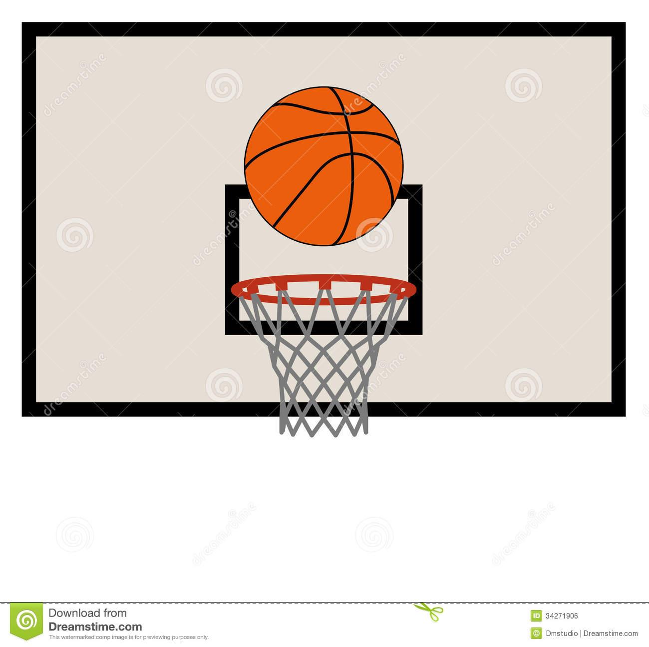 Basketball Backboard Clipart.