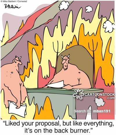 Back Burner Cartoons and Comics.