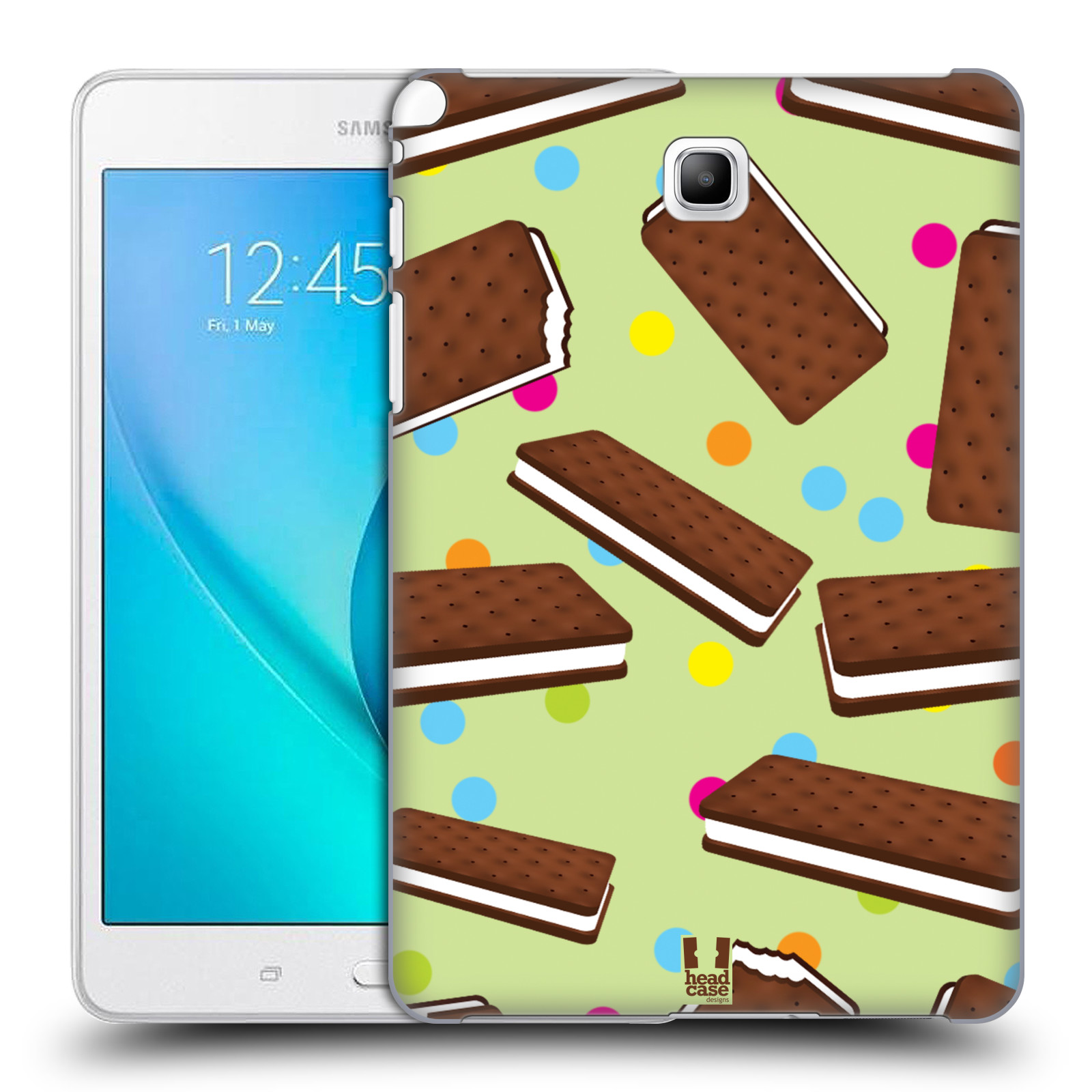 HEAD CASE DESIGNS ICE CREAM BARS HARD BACK CASE FOR SAMSUNG TABLETS 1.