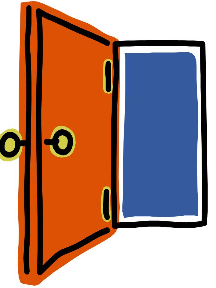 Open Door Notes Clipart.