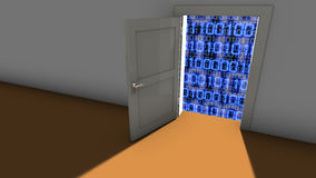Backdoor To Access The Code Stock Illustration.