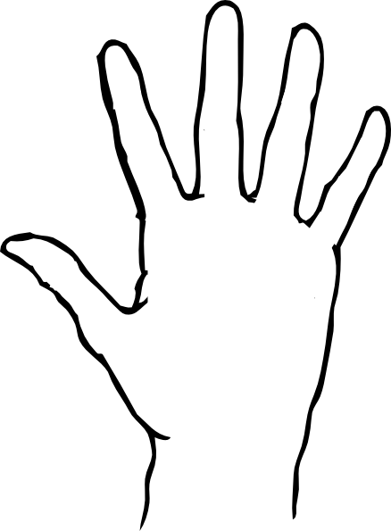 Back of hand outline free clipart images.