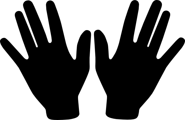 Back Of Hands Clipart.