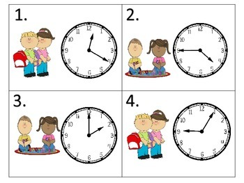 Telling Time to 5 Minutes Task Cards.
