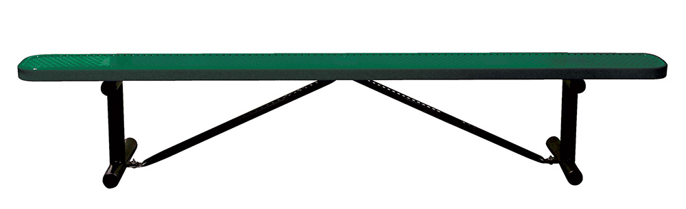 8\' Standard Perforated Bench, No Back.