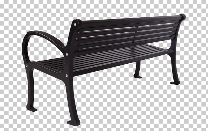 Table Bench Metal Park Living room, bench back PNG clipart.