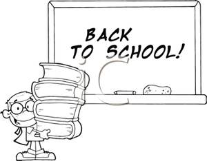 Welcome back to school book clipart.