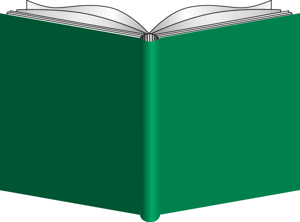 Clip Art Of Open Book.