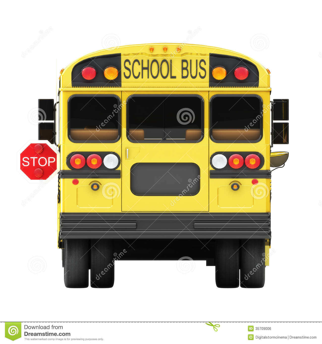 Back Of School Bus Clipart.