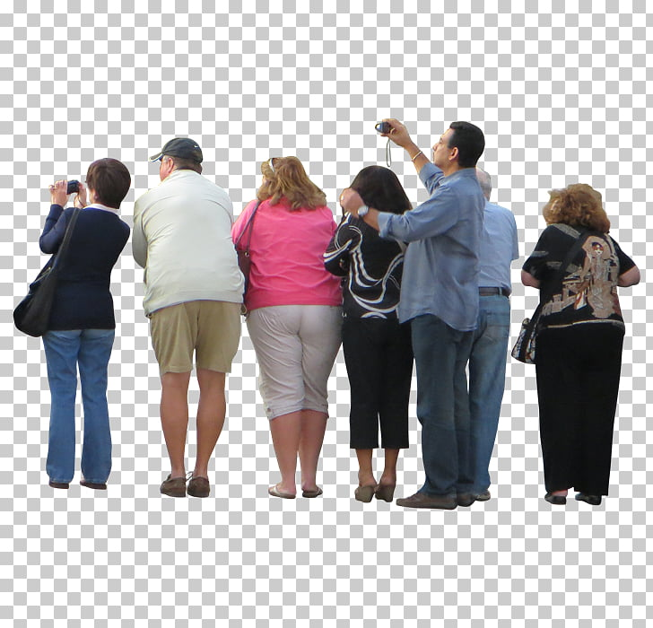 crowd PNG clipart.