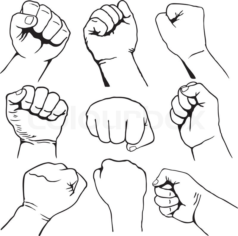 Fist clipart air drawing, Fist air drawing Transparent FREE.