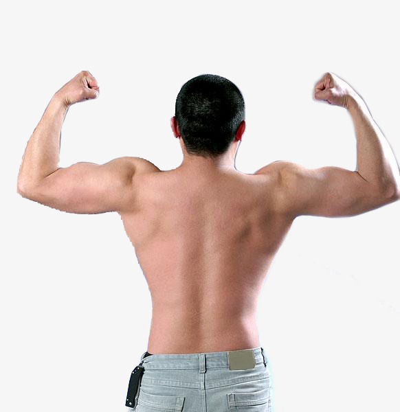 Download Free png Upper Body Exposed Man Back, Man Clipart.