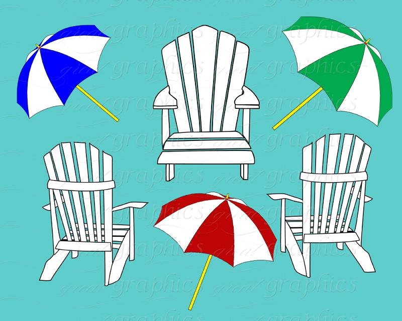 Clip Art Beach Umbrella And Chair Clipart.