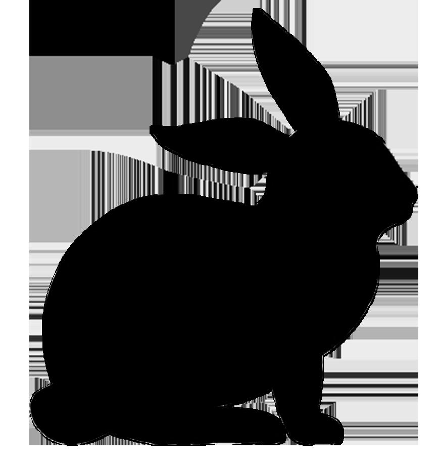 Easter Bunny Rabbit Silhouette Clip art.