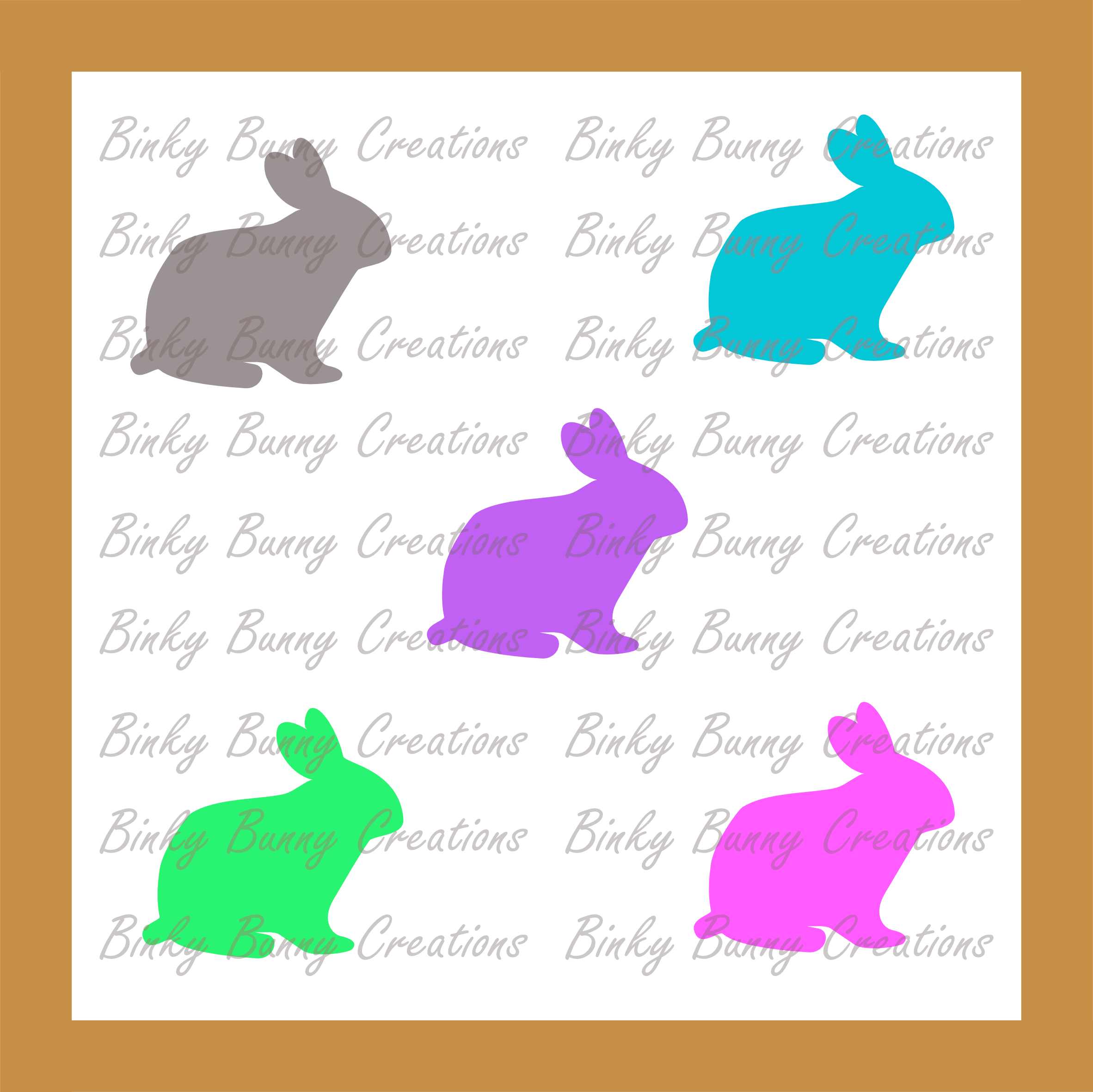 Cute Bunny Rabbit Clip Art Clipart Spring Bunnies 10 Colours.