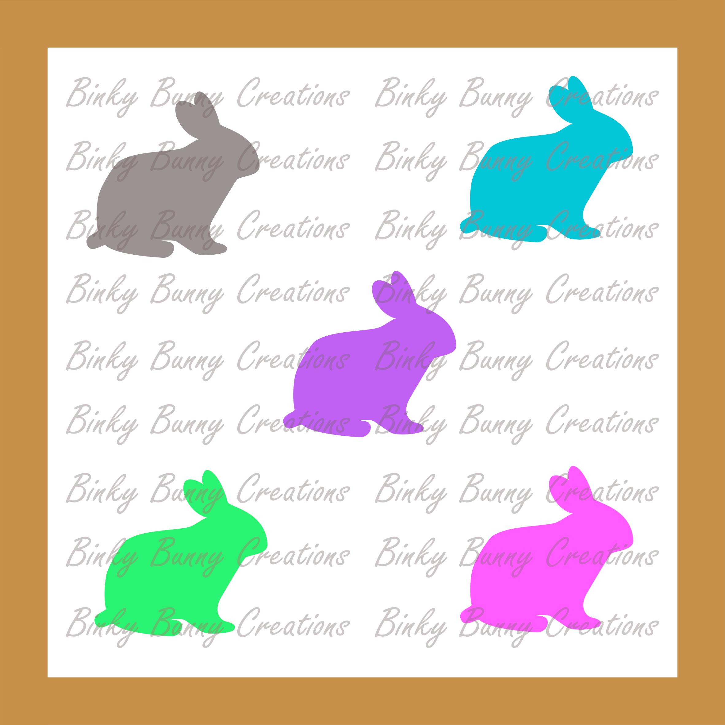 Cute Bunny Rabbit Clip Art Clipart Spring Bunnies 10 Colours.