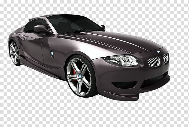 BMW Z4 Sports car MINI, Black BMW transparent background PNG.