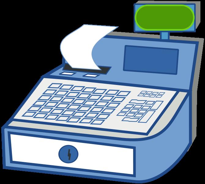 Back Of Cash Register Clipart.