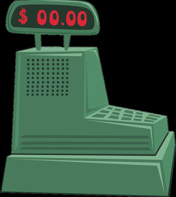 Cash Register Clipart Green.