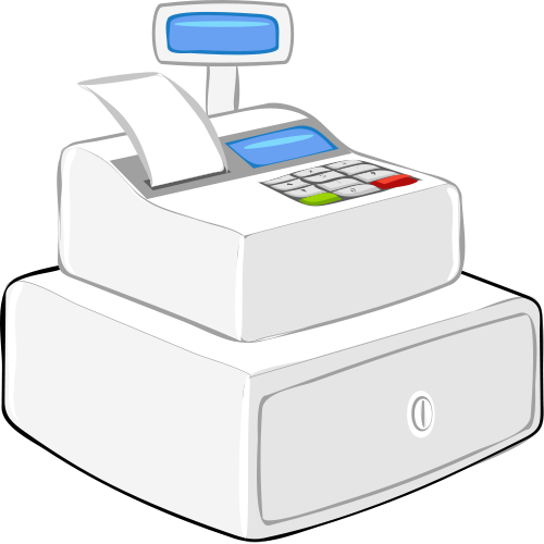 309 Cash Register free clipart.