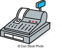 Modern Cash Register Clipart.