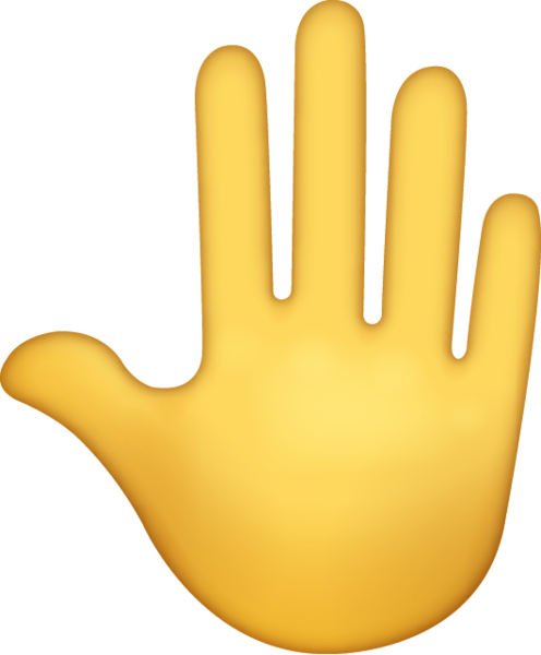 Raised Back Of Hand Emoji Icon Ios10.