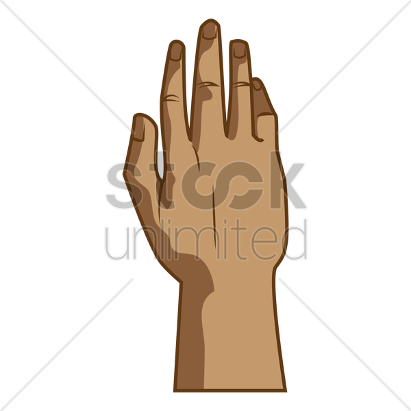 Back hand Vector Image.