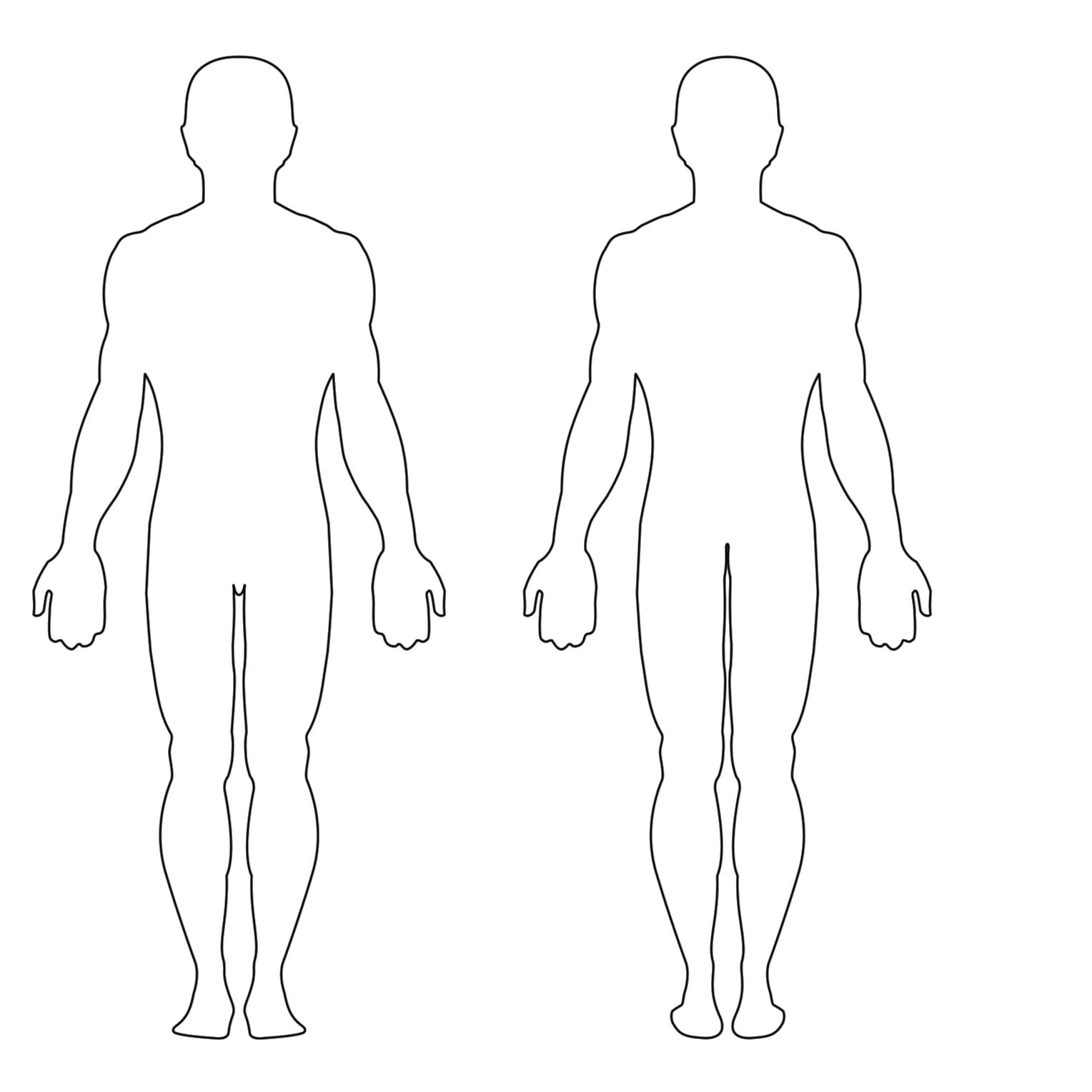 Free Human Outline Template, Download Free Clip Art, Free.