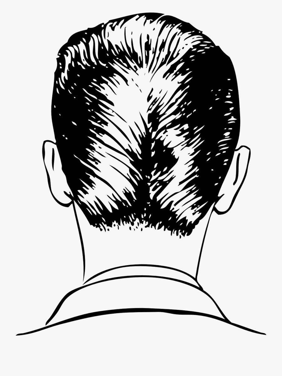 Back Of A Man\'s Head Drawing , Free Transparent Clipart.