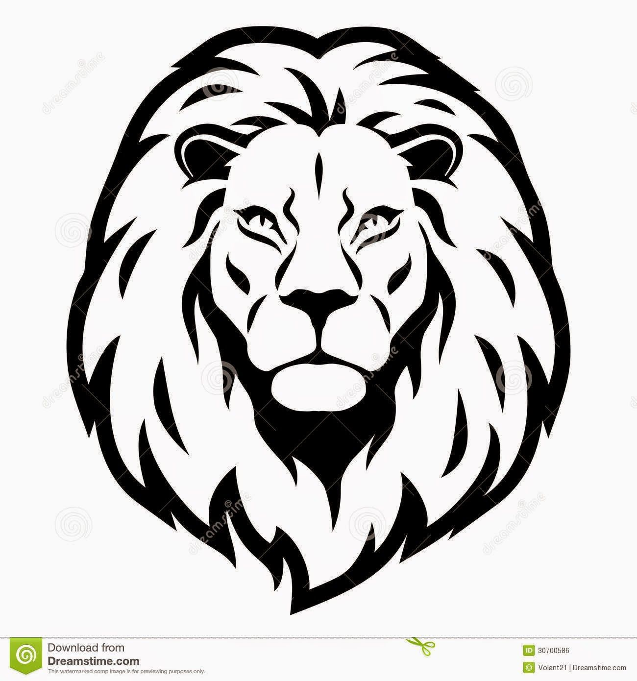 Lion Head Cartoon.