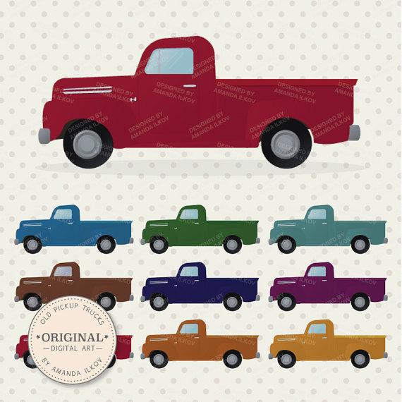 Premium Old Pickup Trucks Clip Art Truck Clipart Truck Clip.