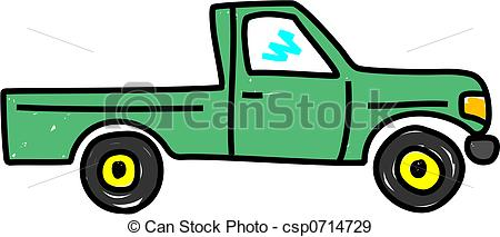Pick Up Truck Clipart Top View.