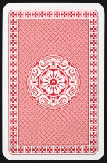 Back side of playing card stock photo.