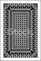 Playing Card Back Side 60x90 MM stock vectors.