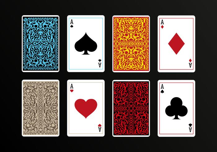 Playing Cards Back Vectors.
