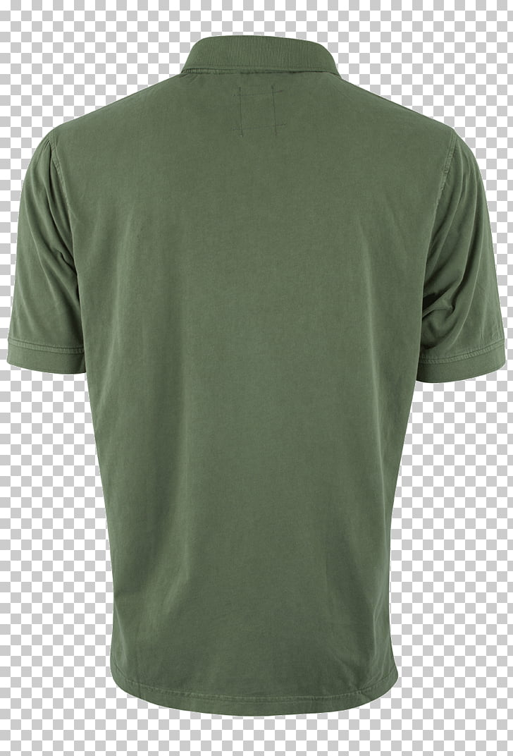 Tennis polo Green Sleeve Neck, Polo Shirt back PNG clipart.