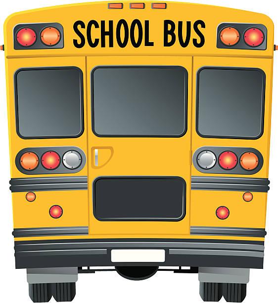 Best School Bus Rear Illustrations, Royalty.