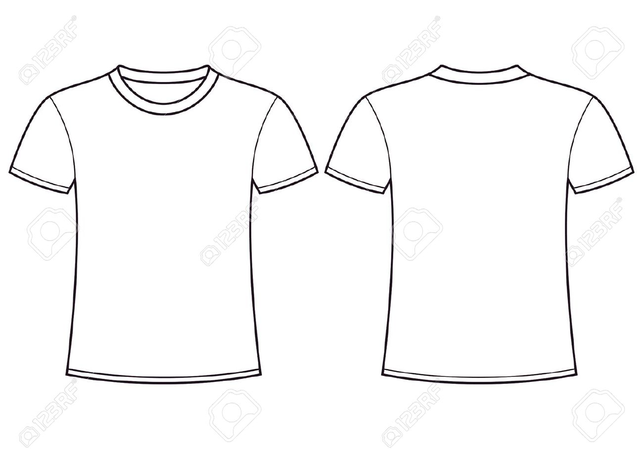 White T Shirt Clipart Front And Back.