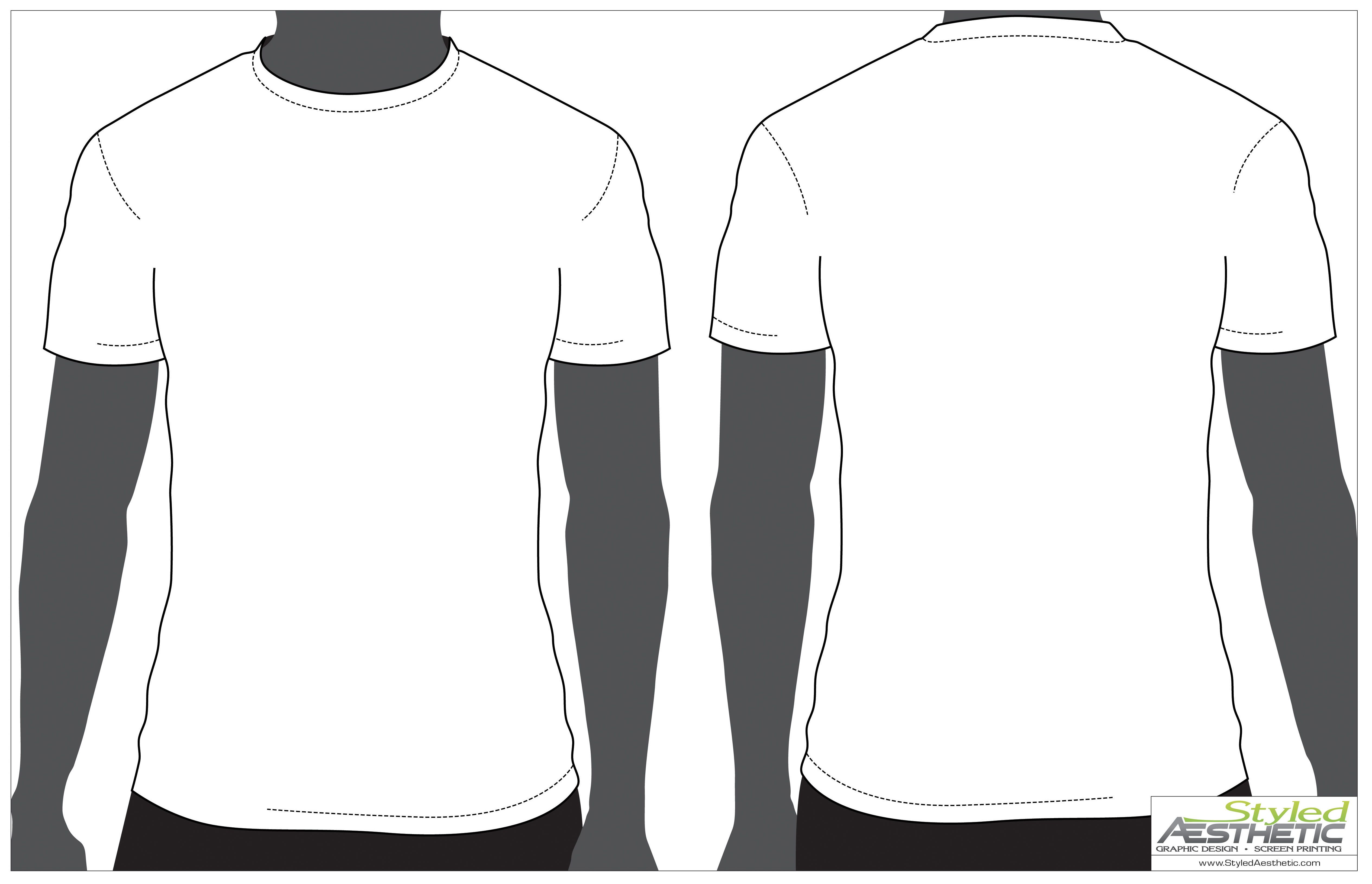 t shirt template front and back.