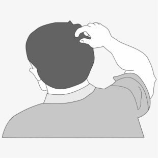 Back Of Someone\'s Head Clipart , Transparent Cartoon, Free.