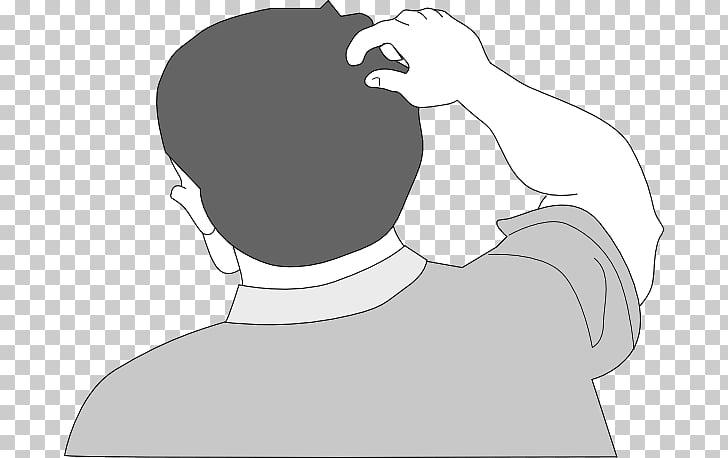Scratching Cartoon Head , Comic Head s PNG clipart.