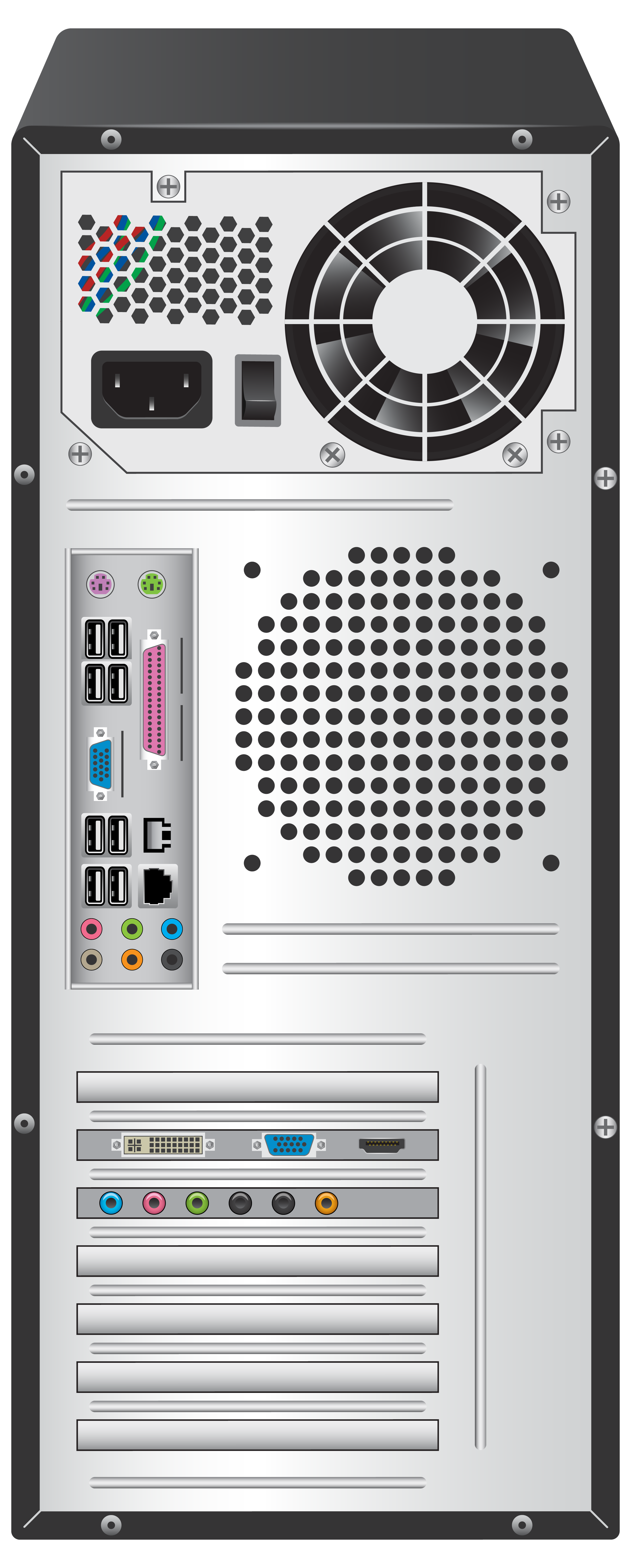 Standard Computer Case Back PNG Clipart.