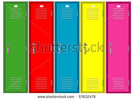 School Locker Stock Photos, Royalty.