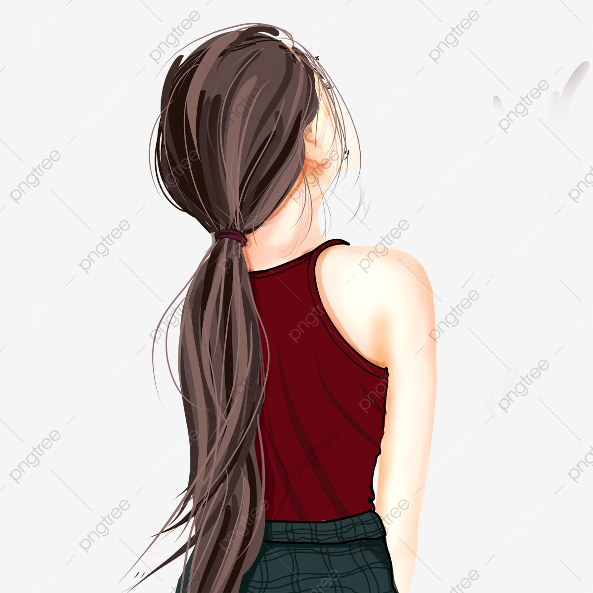 Back Girl, Hair, Hairstyle, Blond PNG Transparent Clipart.