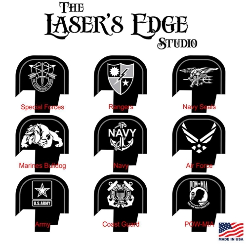 S&W Shield Back Plate Military Patterns.